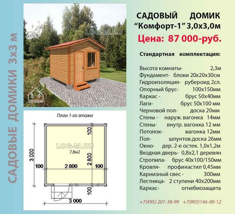 Садовый домик без фундамента своими руками 99